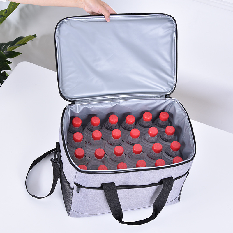 Oxford Large Capacity Cooler Bag Thicken Waterproof Insulated Bag Portable Food Packing Container Thermal Bags Shoulder Ice Pack