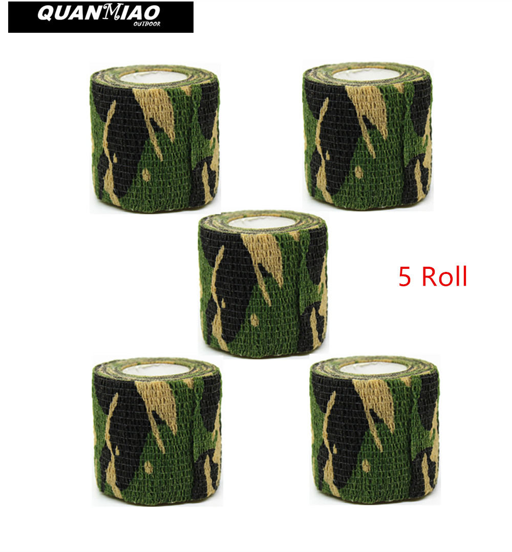 1 Roll Camo Stretch Verband Camping Jagd Tarnung Band Für Waffe Tücher Neu