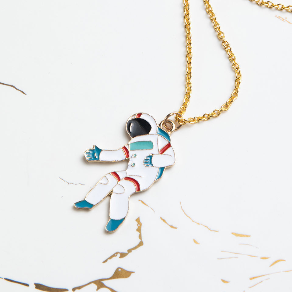 Anime Character Cartoon Necklaces Women Girl Children Christmas Deer Stocking Santa Claus Planet Moon Star Necklace&Pendant Gift (20)