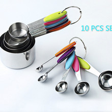 5PCS/10 Pieces Stainless Steel Measuring Spoon with Scale Measuring Cup Measuring Spoon Set Cake Mold Baking Tool