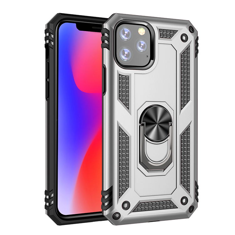Luxury magnet metal phone case for apple iPhone 7 XR XSMA 11 11Pro 11ProMax shockproof crash shell car bracket silicone case