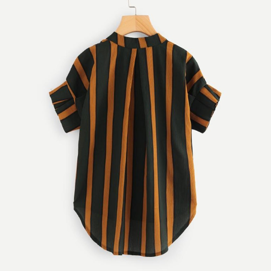 Clothing T-Shirts Maternity-Fashion-Brand Striped-Tops Long-Sleeve Women Casual Button-Up title=