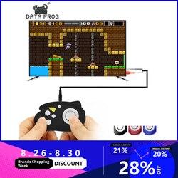 Данные лягушка ретро мини игровая консоль 8 бит игровой плеер встроенный 89 классические игры семья ТВ видеоприставки Подарочные игрушки