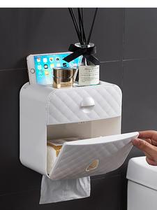 Shelf Tray Storage-Box Paper-Holder Toilet-Paper Wall-Mount Waterproof for Casetube