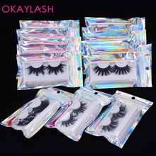OKAYLASH 6d 8d 25mm natural long real mink false volume eyelashes eye lash wholsale in bulk luxury false lashes vendor