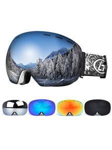 Snowboard Goggles Glasses Ski-Mask Skiing Anti-Fog Double-Layers Women Big UV
