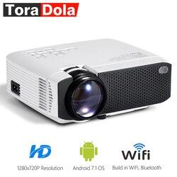TORA DOLA Android 7.1OS проектор. Лучший светодиодный hd-проектор. Мини домашний кинотеатр, разрешение 1280x720 1080P Beamer портативный 3D TD01