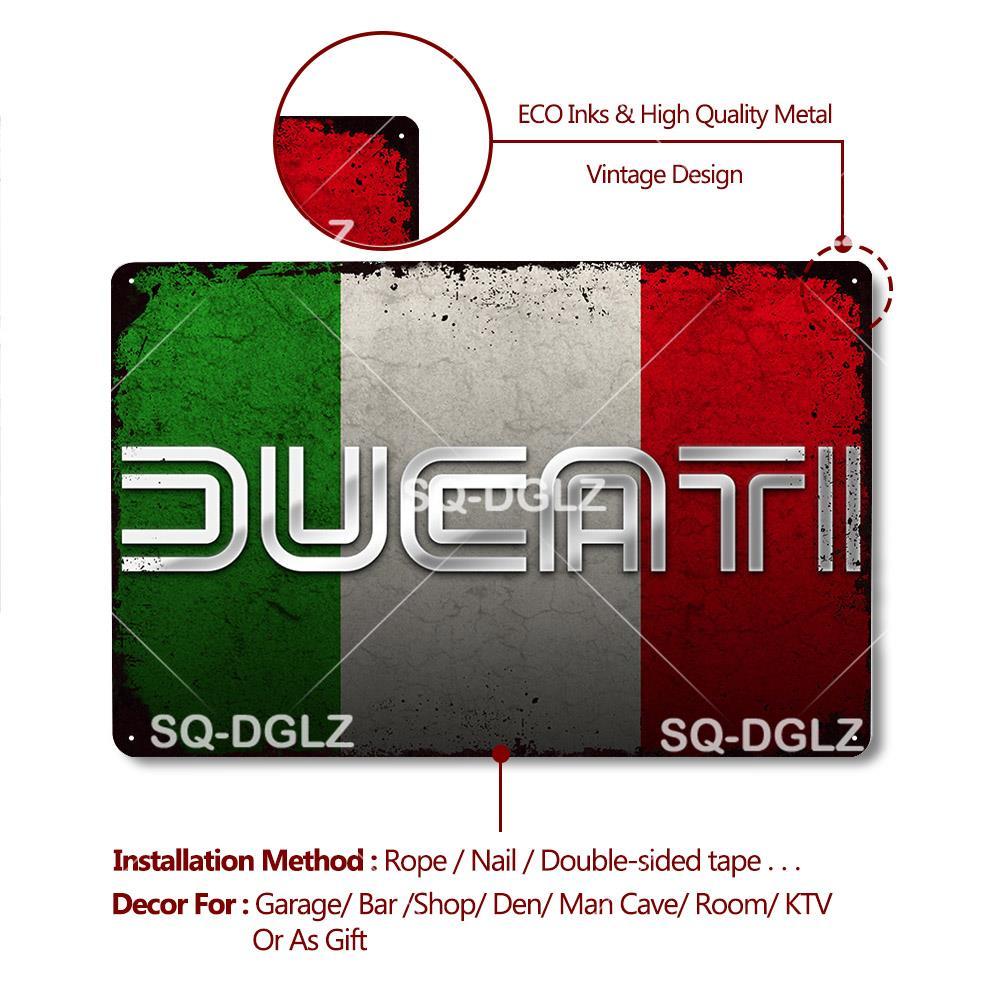 DUCATI 750 GT 1973 Publicité Métal Tin Signe Affiche Plaque Murale