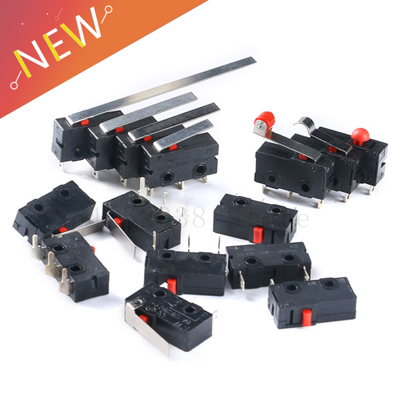 200Pcs Micro Limit Switch With Roller Lever KW12-3 Open//Close Switch 5A 125V