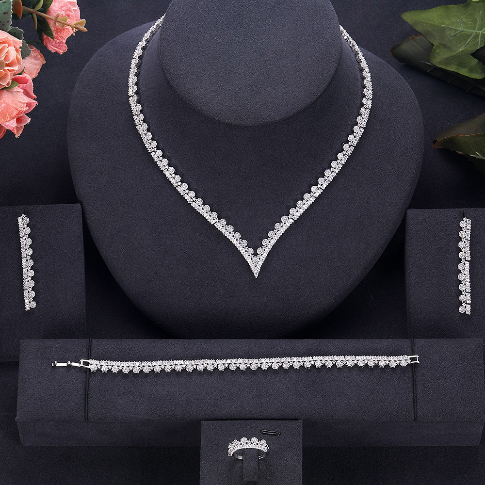 Bridal-Jewelry-Sets Wedding-Party-Accessories Jankelly-Hotsale African Design Women New-Fashion title=