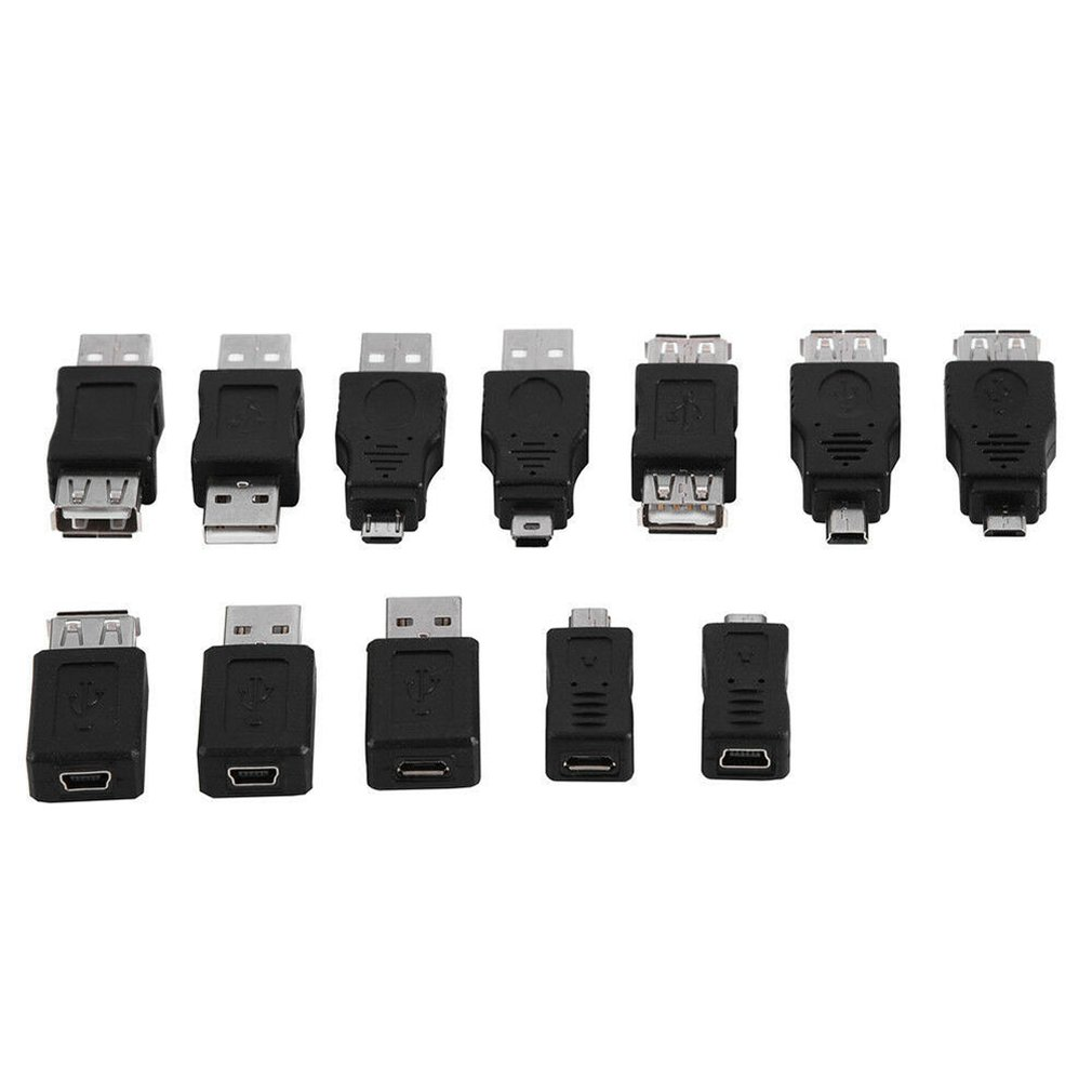 Power-Bank Cable Micro-Usb-Adapter USB3.0 Mini Male-To-Female 12pcs F/M-Charger-Adapter title=