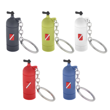 Mini Scuba Diving Tank Keychain with O-Rings Silicone Key Chain for Women and Men