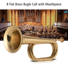 Trumpet Brass-Material Flat-Bugle Mouthpiece with for School-Band Cavalry Beginner Military