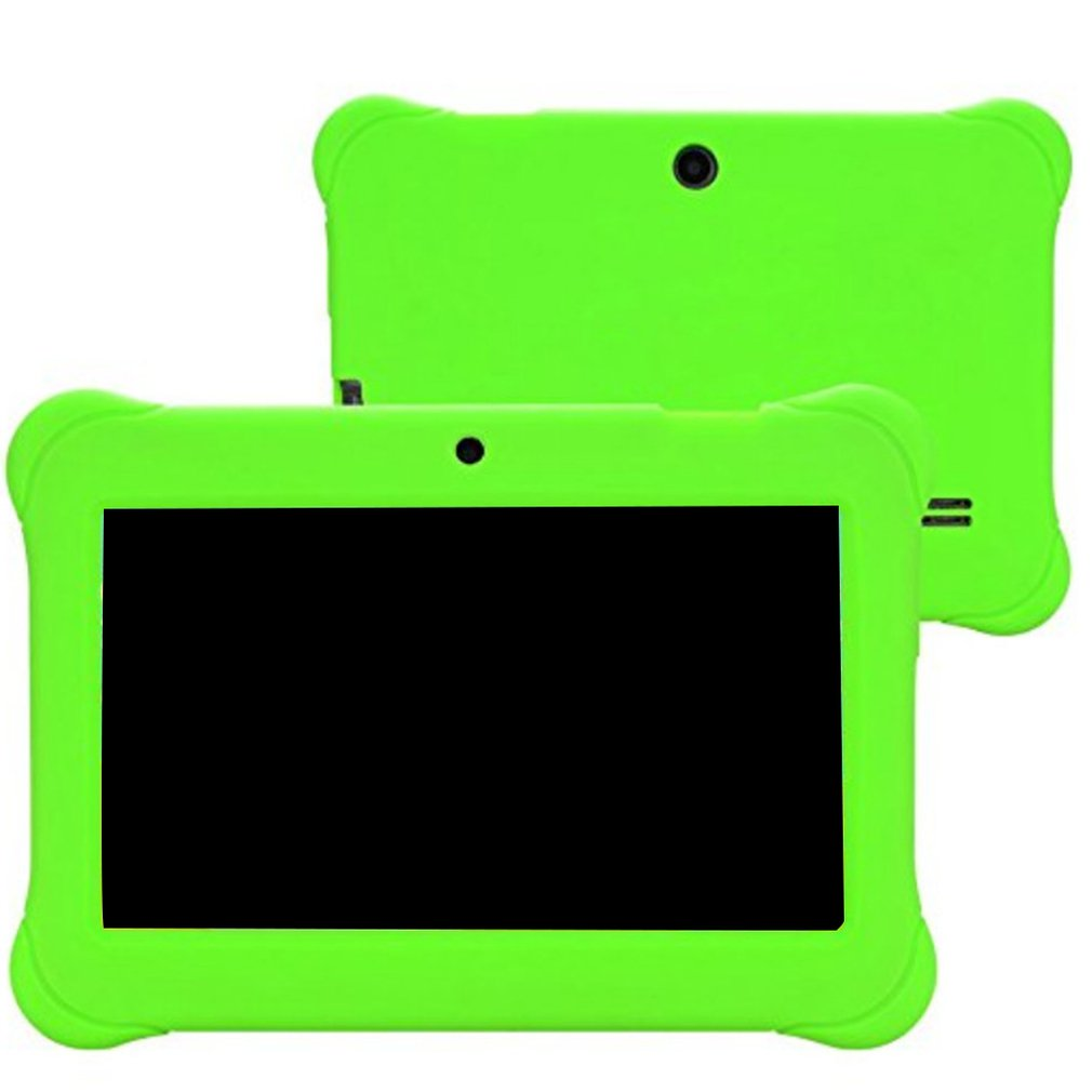 512M+4G  Kids Silicone Cover Protective Case Anti Dust Silicone Rubber Gel Case Cover For Q88 7 Inch Android Tablet PC