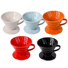 Cup Separate-Stand DRIP-FILTER Ceramic Engine Pour with for 1-4 V60-Style Permanent