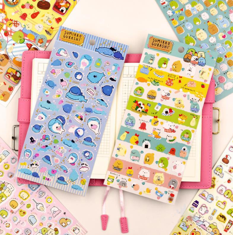 1sheet new Cartoon Corner creature San-x Sumikko Stickers Scrapbooking Stick Label Diary Album Stickers Classic Toys gift