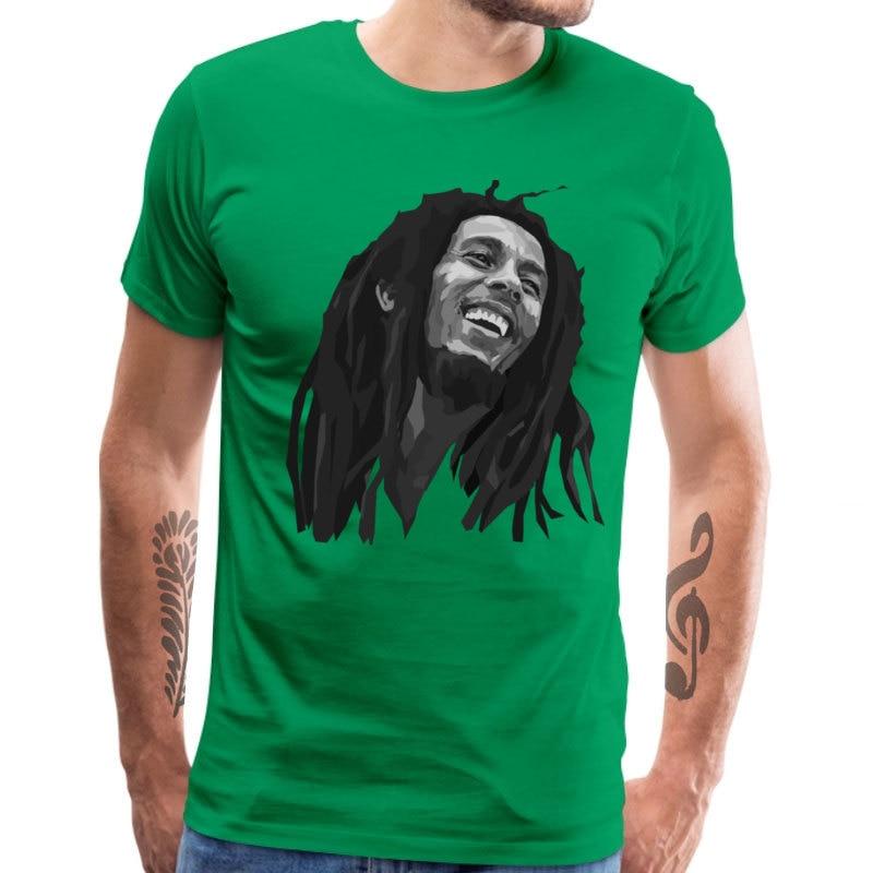 Casual Bob_Marley_1_1249 Short Sleeve Labor Day Tops & Tees 2018 New Fashion Round Collar All Cotton Top T-shirts Men's T-shirts Bob_Marley_1_1249 green