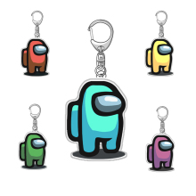 Keychain Acrylic Car-Keys-Decoration-Accessories Christmas-Gift Colourful Hot-Games Among