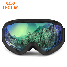 Mask Glasses Snow-Goggles Snowboard Skiing-Eyewear Double-Layers Winter Women Anti-Fog
