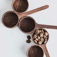 Bar Scoop Measuring-Tools Coffee-Beans Wooden Kitchen for Walnut