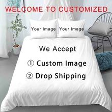 New 2021 3D Digital Printing Customized Design Custom Image Bedding Set Duvet Cover Set For Kids Adults