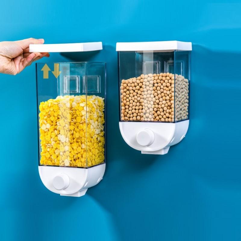 1.5L Durable Stainless Steel Grain Storage Tank Food Storage Jars