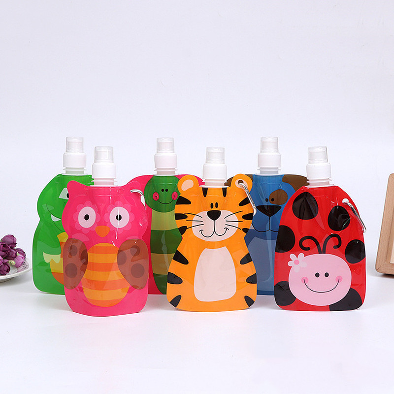 Drink-Bottle Animal-Bag Folding-Bags Travel Cartoon Children Kids Safe 1PC for Gift 300-350ml title=