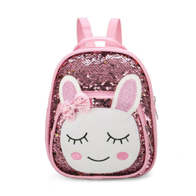 School-Bag Backpack Rucksack Bookbag Sequins Toddler Girls Cartoon-Animal Children Kid title=