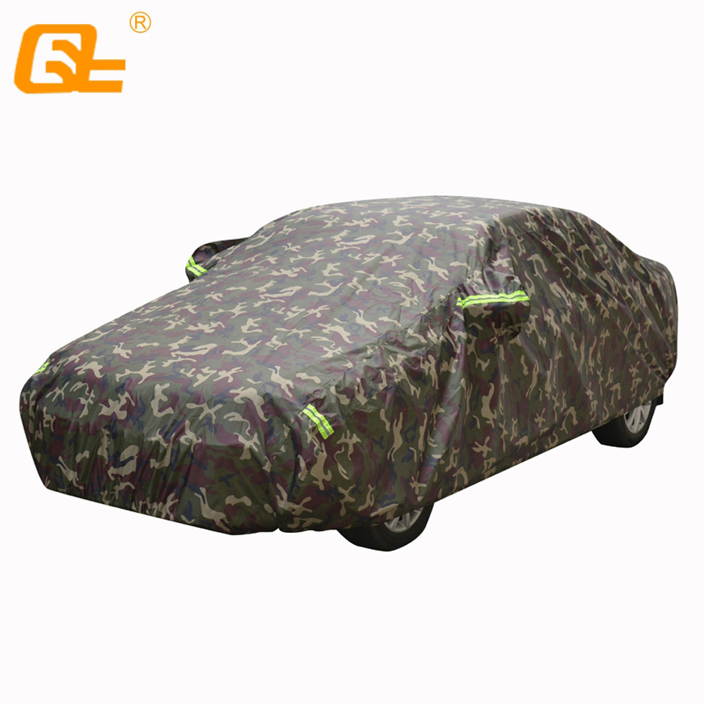 Oxford cloth winter Full Car Covers Outdoor Waterproof Sun Rain Snow Protection UV Car Umbrella camouflage Universal SUV Sedan title=