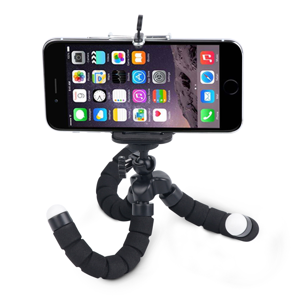 Mini Flexible Sponge Octopus Tripod for iPhone Samsung Xiaomi Huawei Mobile Phone Smartphone Tripod for Gopro 9 8 7 6 5 Camera