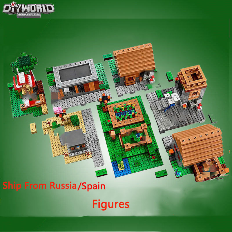 Legoing Mini World Village Creator Bricks My World Action Figures Model Toys For Children Building Blocks Legoeds Christmas Gift