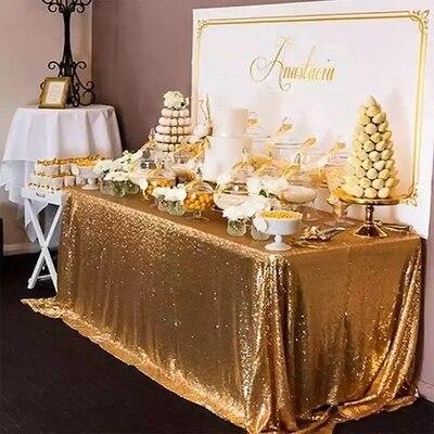 Restaurante Fiesta Mantel de Oro Redondo para Navidad//Bodas//Cenas Tapetes de Mesa de Oro para Comedor