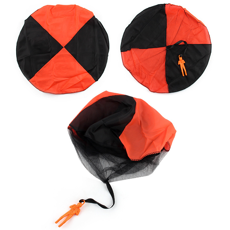 5Set Kids Hand Throwing Parachute Toy For Children's Educational Parachute With Figure Soldier Outdoor Fun Sports Play Game