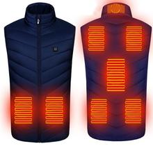 Heating Vest Clothing Heated-Jacket Waistcoat Sleevless 8-Areas Infrared USB Men