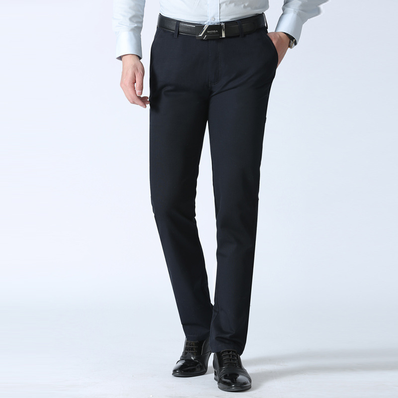 2020 Spring Autumn Men's Casual Pants Brand Classic Full Length Suit Straight Cotton Business Man Plus Big Size 40 42 Trousers title=