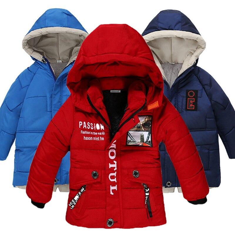 0-6T Toddler Baby Boys Girls Winter Warm Cotton Down Hooded Coat Jacket Outwear