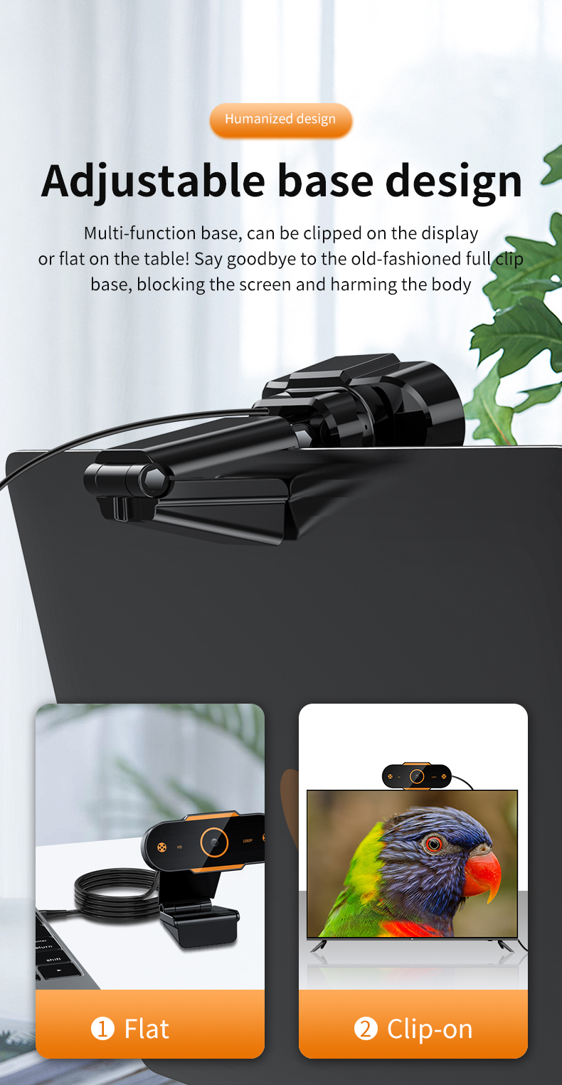 Bird - Auto Focus 1944P HD Webcam 1080P web camera With Microphone smart Webcams for Live Broadcast Video Calling Home Conference Work