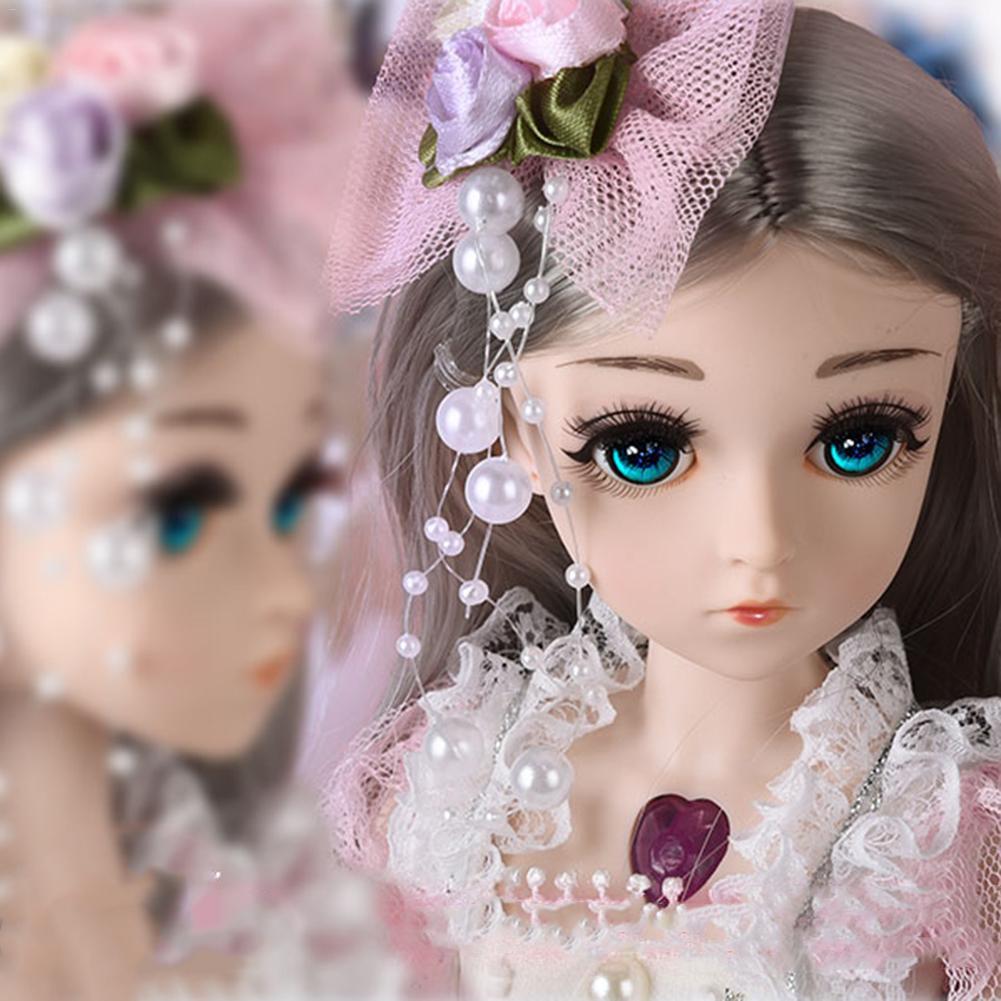 8 Pairs 1//4 Scale BJD Girl Doll Mini Cute Eyelashes Decor Makeup Accessory