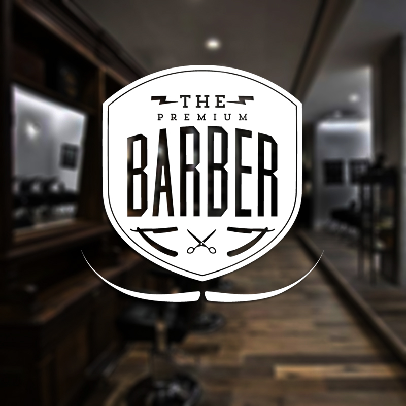 Barber Shop Sticker Chop Bread Decal Haircut Shavers Posters Vinyl Wall Art Decals Decor Windows Decoration Mural Mb0044