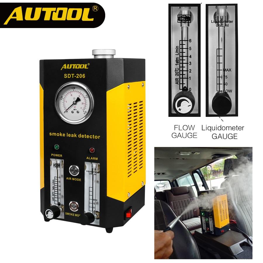 2019 AUTOOL SDT206 Car Smoke Leak Detector Pipe EVAP Leakage Diagnostic Tool
