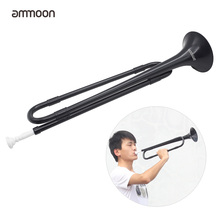 ammoon B Flat Bugle Cavalry Trumpet Plastic with Mouthpiece for Band School Student