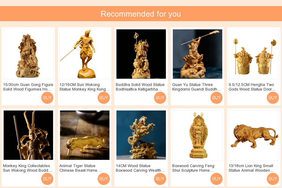 Hum ha Two Carved Door god Figures Home car Small Handicraft Gifts Gifts