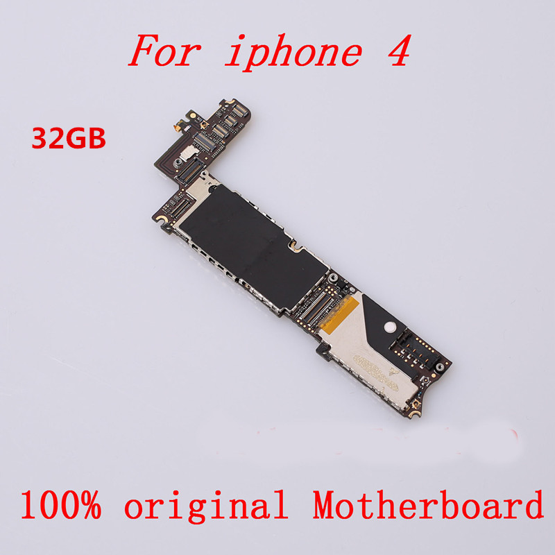 Mainboard iPhone for 4 Good-Working 32-Gb with Full-Chips IOS Tool Unlocked Unlocked title=