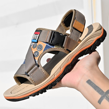 Genuine Leather Men's Shoes Summer Men's Sandals Men Sandals Fashion Outdoor Beach Sandals and Slippers Big Size 38-47