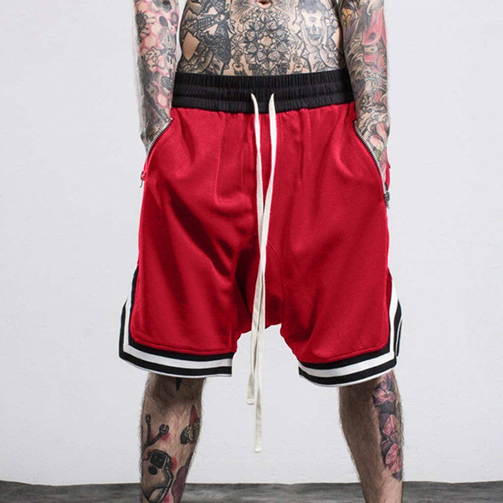 Men's Shorts Pant Trousers Running-Pants Stretch Bermuda Elastic Hip-Hop Masculina Rope title=