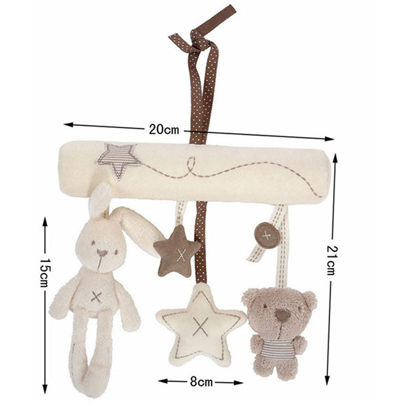 Hot-Sales-Musical-Soft-Plush-Rabbit-And-Bear-Baby-Rattle-Hanging-Toy-Stroller-Star-Hanging-Rattle