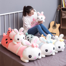 Tea-Lying Plush-Toy Stuffed Pillow Animal Bunny Rabbit Giant Cute Lovely Milk Girl Gift