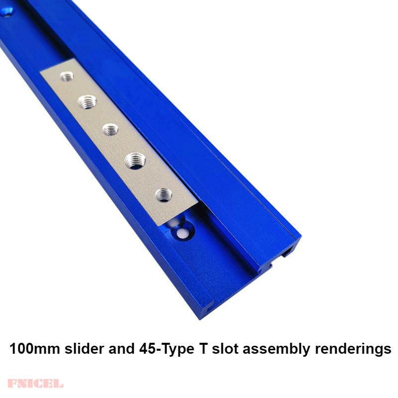 Tuerca de aleaci/ón de aluminio M6//M8 T ranura T de la ranura de la pista de la barra deslizante de acci/ón r/ápida de sujeci/ón de la tuerca T accesorios para sierra de mesa ingletar Track Jig Fixture
