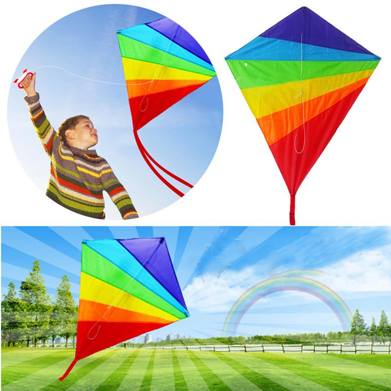 Deportes De Diversi/ón Al Aire Libre En La Playa Con Una L/ínea De 30 M Juguete Para Ni/ños Vivianu 2019 Diamond Rainbow Kite