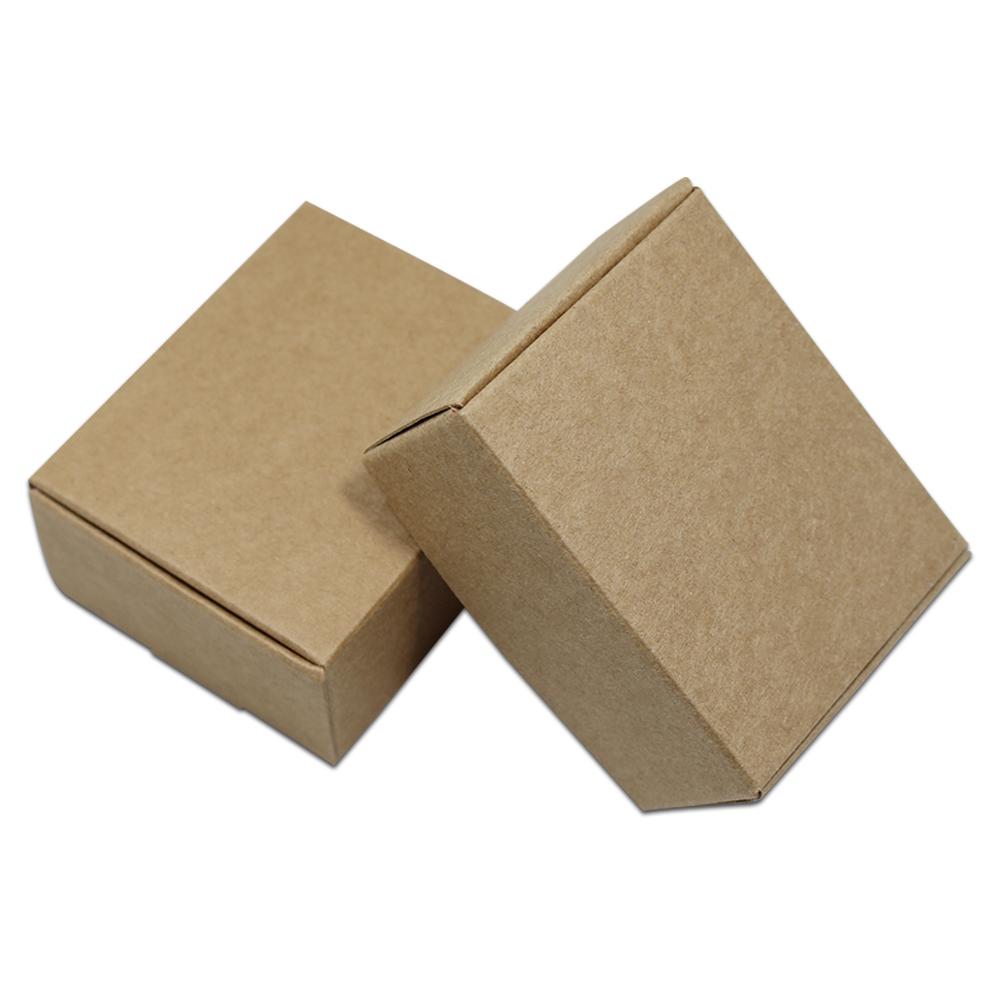 Yardwe 50 piezas individuales de papel kraft marr/ón cupcakes contenedores cajas de embalaje de regalo con ventana para pasteles galletas pasteles peque/ños pasteles cupcakes